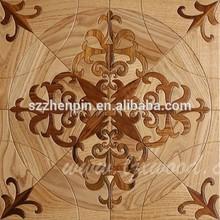 Middle asian design oak and teak wood parquet flooring Kazakhstan design