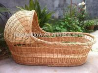 handmade natural wicker baby baket wicker baby sleeping baskets