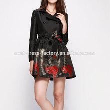 2015 Autumn fashion new style elegant back printed woman winter coat