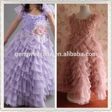 Stylish Purple Prom Dress Long Kids Wedding Dresses Ball Gowns Dresses