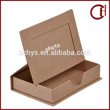 custom made luxury cardboard origami packaging paper gift box/handmade paper photo frame box
