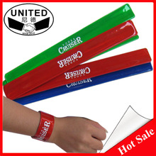 Customized bicycle slap bracelets sports slap bands