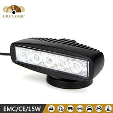 6'' 15W EPISTAR LED WORK LIGHT BAR SPOT OFFROAD LAMP TRUCK UTE 4WD BOAT CAR