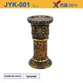 Candelabro de hierro forjado del piso de pie, con candelabros de cristal votivas