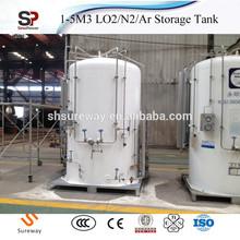 Liquid Oxygen CO2 Cryogenic Storage Tanks with Pressure Design