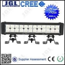 "JGL CAR LED LIGHT BAR 72W cheap 4x4 auto work lightbar 2 rows 14"" ip68 fine cob"