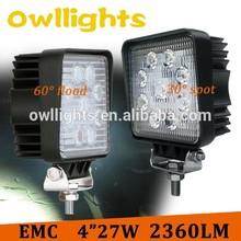 Hot Sale IP68 4x4 4 Inch Round car led light 27W LED Tuning Light