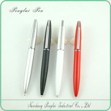 high quality lady pen red silver plated promotional metal ball pen