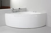 Triangle shape 1400mm corner bathtub with massage function