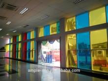 PV solar panel transparent double glass,colorful