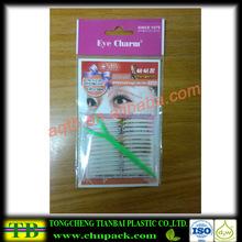 Decorative eyelash packing opp printable header bags