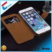 Hot sale!!!Ultra thin leather case for iphone 6/iphone 6 plus, crown pouch leather smart case for iphone 6