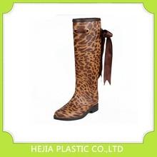 Pvc lluvia botas zapatos de agua zapatos de leopardo de impresión