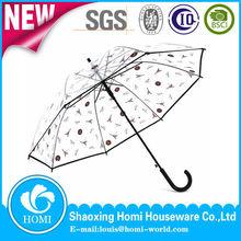 Fashion Rain Transparent Dome Umbrella Brolly Clear Market Umbrella Manufacturer