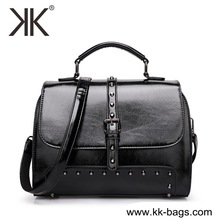 Wholesale OEM Cheap fashion designer woman handbag newly pu leather female handbag black shoulder bag for women