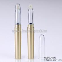 long golden empty lip gloss pen