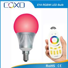 RF 5W E14 wifi iphone controlled RGBW LED Bulb