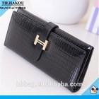 Lady black designer purse PU leather purse china supplier