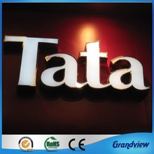 Acrylic letter with led light alphabet sign for advertising