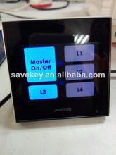 New design overall glass panel metallic sound EU standard CE/ISO9001/CQC hotel switches panel