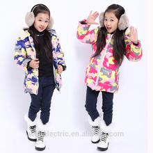 Latest factory directly hooded belt korean girl winter coat