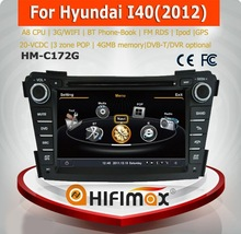 Hifimax HYUNDAI Series i40 car dvd gps navigation system WITH A8 CHIPSET DUAL CORE 1080P V-20 DISC WIFI 3G INTERNET DVR SUPPORT