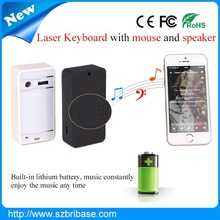 Best price Magic Cube wireless virtual laser keyboard mouse&speaker.mini bluetooth keyboard for android