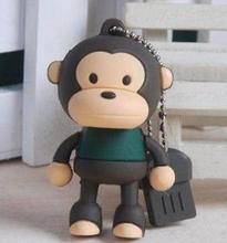 2gb 2.0 monkey memory stick drive pen U disk animal shape usb flash drive