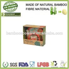 greenland cute printed animal natural bamboo fibre biodegradale kids dinner set