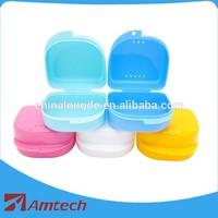Plastic denture storage box