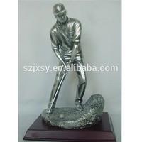 Resin Sculpture Hockey Player Figurine