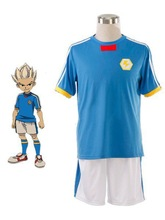 Cool Inazuma Eleven Japanese Team light blue Summer Football Boys Trikot Cosplay Costume