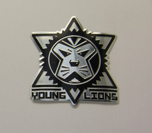 Alluminum lion head star badge, metal plate