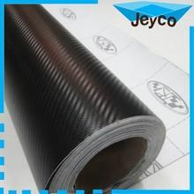 JEYCO VINYL 1.27*30m Hot sale paint protective glue 3D carbon fiber car vinyl wrap with optional colors