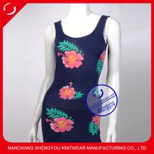 custom wholesale 95% cotton 5% spandex full printed womens tank top