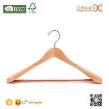 Eisho With Natural Finish Wide Rounded Shoulders Outerwear Wood Coat Hanger