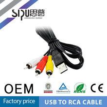 SIPU 2 Rca Cable to Usb 3.5mm Jack Plug to Usb Cable
