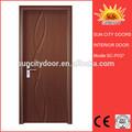 El último 2014 turquía diseño mdfinterior puerta de pvc de color blanco de pvc puerta hecha en la fábrica de zhejiang sc-p037