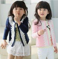 2014 In stock Flower coat for girls kids jacket children clothing 5pcs/lot Long sleeve Baby clothing