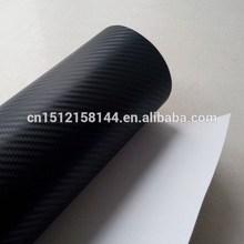 Black 3D Carbon Fiber Car Wrap Vinyl Film