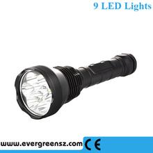 11000lm 5-Mode Adjustable 9 LEDs XM-L T6 18650 Flashlight Torch