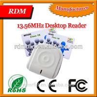 125khz or 13.56mhz RFID access control USB desktop Reader card issing reader