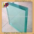 Claro/colorido capa intermedia de pvb 0.38mm espesor de vidrio laminado precio, 3+ 3,4+ 4,5+5 vidrio laminadogrueso