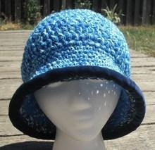 Luck color of Blue for ladies handmade crochet cartoon hat