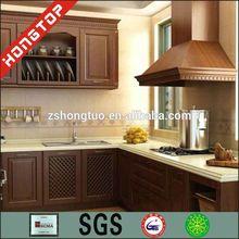 Oak wood kitchen cabinet