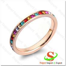 hot platinum\/18k gold\/rose gold wholesale silver ring