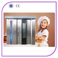 Hot sale 32 bandejas padaria gás rotativo forno equipamento para padaria usada