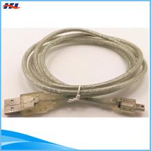 white nylon mini to usb cable braided