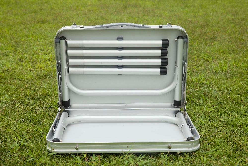 Aluminum folding picnic table metal folding camping table - Table pliante metal ...