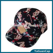 custom design 5 panel 100% cotton hat fashion hat PU patch embroidery 5 panel cap
